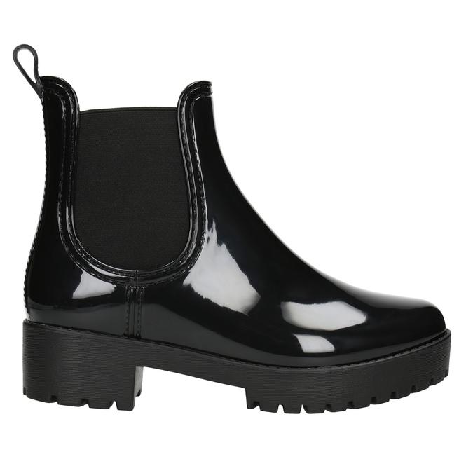Ladies' Glossy Wellington Boots bata, black , 592-6400 - 26