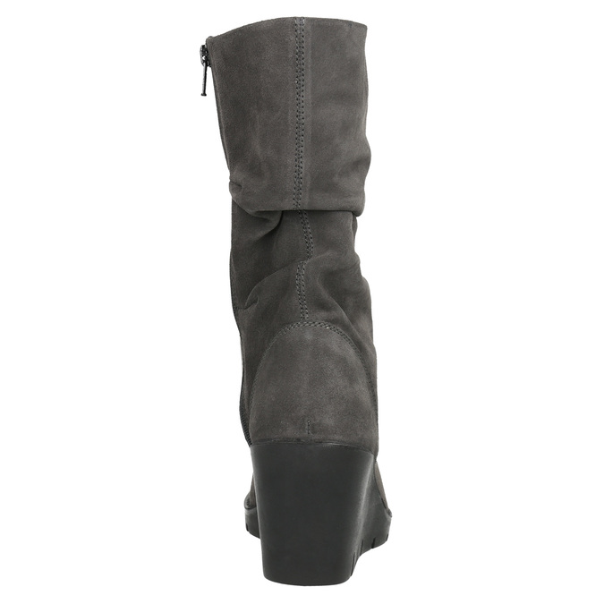 Ladies' High Boots with Wrinkling bata, gray , 796-2646 - 17