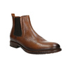 Brown leather Chelsea Boots bata, brown , 896-3673 - 13