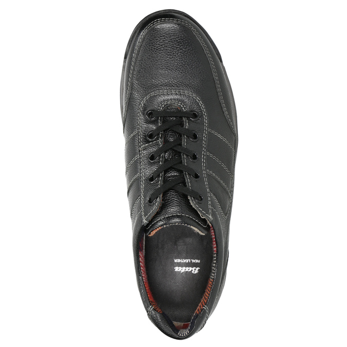 Men's leather sneakers bata, black , 824-6921 - 26