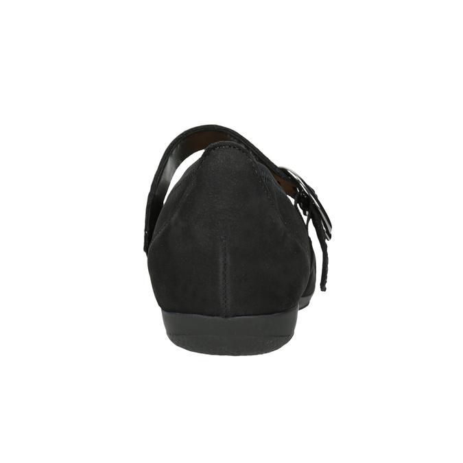 Leather Mary Jane Flats gabor, black , 514-6118 - 16