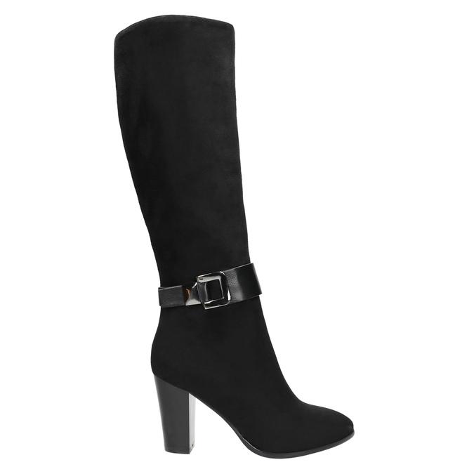 Ladies' heeled high boots bata, black , 699-6631 - 15