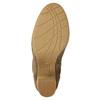 Brown heeled high boots bata, brown , 799-3613 - 19