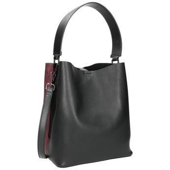 Ladies' two-tone handbag bata, black , 961-6173 - 13