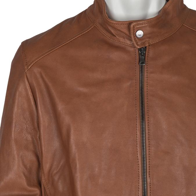 Men's Leather Jacket bata, multicolor, 974-0154 - 16