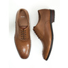 Leather Oxford shoes with decoration bata, brown , 826-3690 - 18
