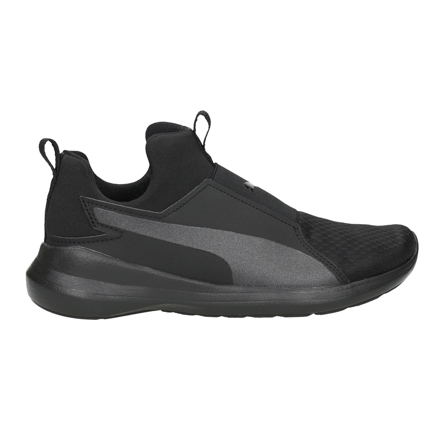 Puma Black Ladies  Laceless Sneakers - Slip - on  cf48fa53a08c