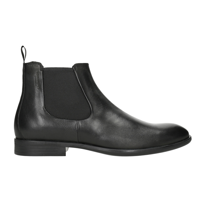 Men's Leather Chelsea Boots vagabond, black , 814-6024 - 26