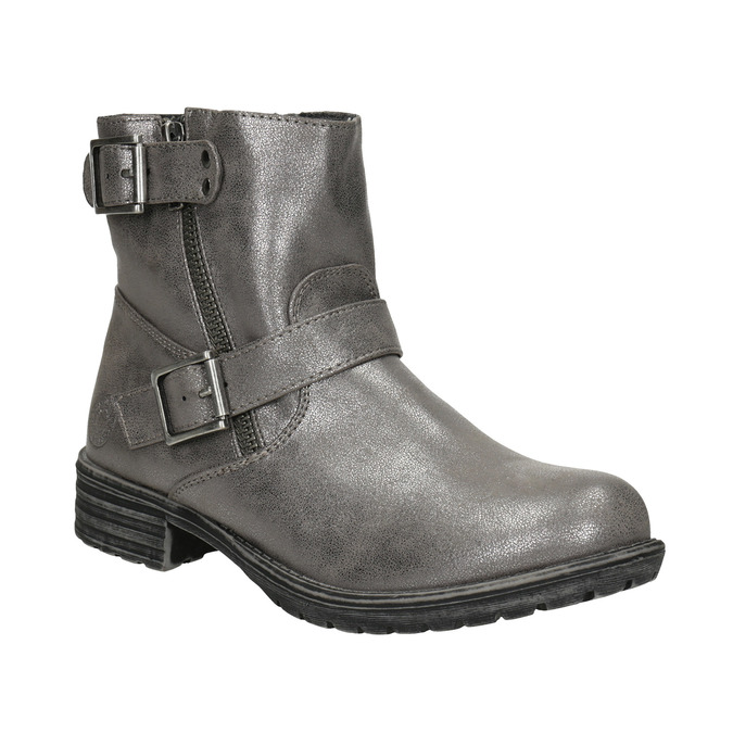 Girls' High Boots with Buckles bullboxer, 491-8021 - 13