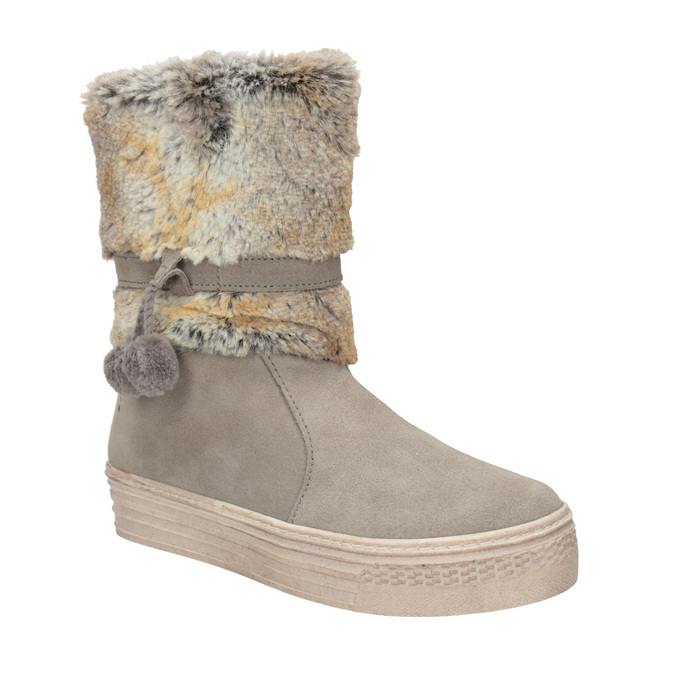 Children's winter boots with fur primigi, beige , 393-8015 - 13