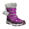 Girls' Snow Boots with Pompoms mini-b, violet , 399-5656 - 13