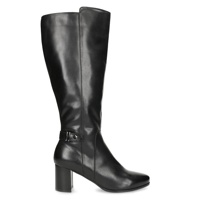 Ladies' Leather High Boots bata, black , 694-6639 - 19