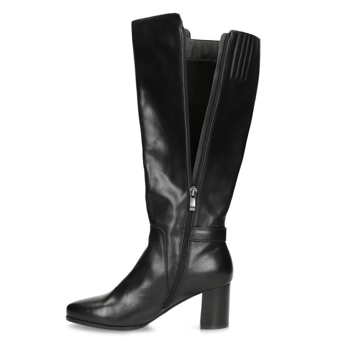 Ladies' Leather High Boots bata, black , 694-6639 - 17