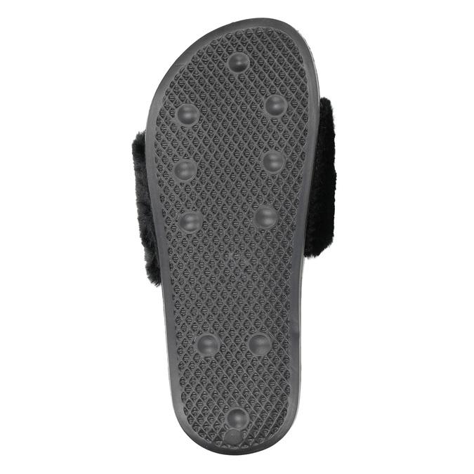 Ladies' black slippers north-star, black , 579-6624 - 17