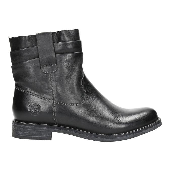 Ladies' leather ankle boots bata, black , 594-6611 - 15