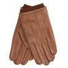Brown leather gloves bata, brown , 904-3117 - 13