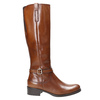 Brown Leather High Boots bata, brown , 596-4665 - 15
