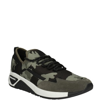 Men's patterned sneakers diesel, green, 809-7602 - 13