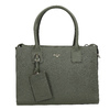 Leather handbag with strap picard, green, 966-7039 - 26