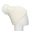 Furry Pompom Hat bata, multicolor, 909-0152 - 19