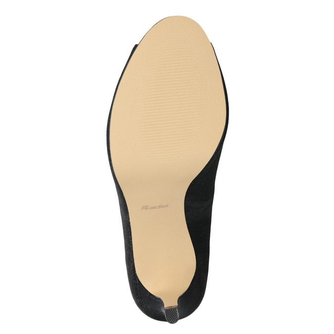 Peep-Toe Pumps bata, black , 729-6610 - 17
