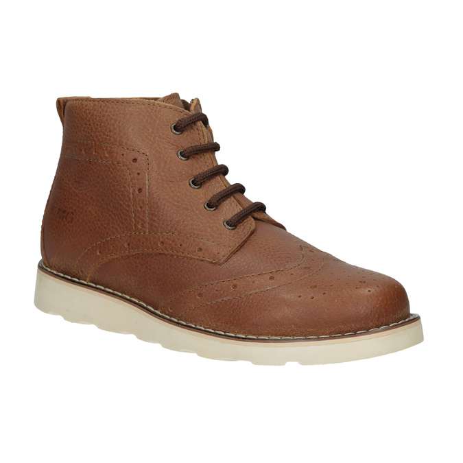 Children's leather ankle boots primigi, brown , 314-3004 - 13
