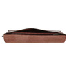 Leather clutch with stitching bata, red , 966-5285 - 17