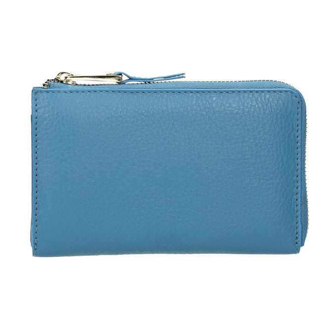 Blue Leather Wallet bata, blue , 946-9284 - 26