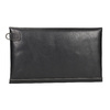 Black leather clutch bata, black , 966-6285 - 16