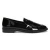 Ladies' patent moccasins bata, black , 511-6607 - 19