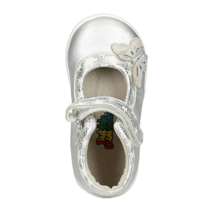 Silver girls' ballerinas bubblegummer, gray , 121-2620 - 15