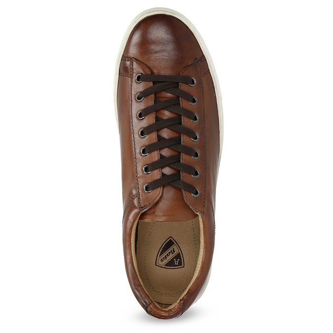 Men's Leather Sneakers bata, brown , 846-4648 - 17