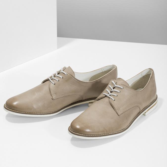 Ladies' leather shoes bata, beige , 526-8650 - 16