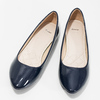 Ladies' patent leather ballerinas bata, blue , 521-2602 - 16