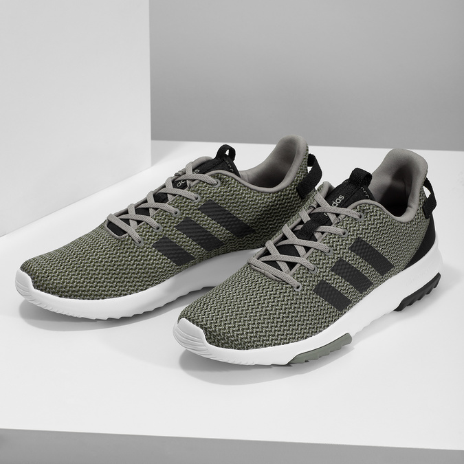 Sneakers in a sport design adidas, khaki, 809-7201 - 16