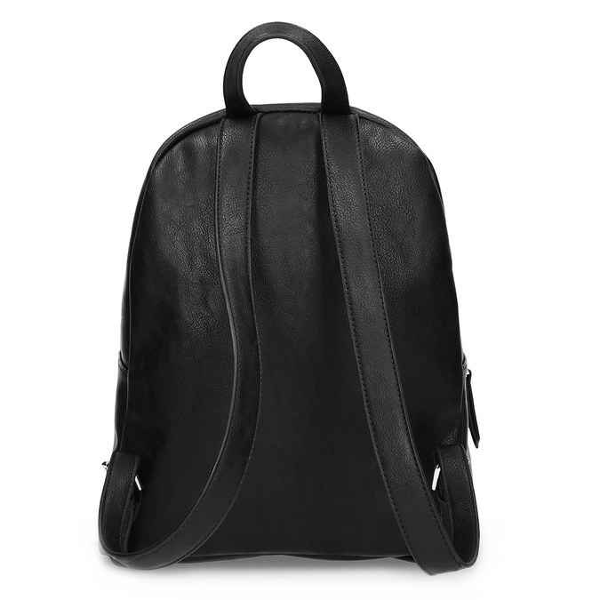 Black backpack with rhinestones bata, black , 961-6855 - 16