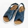 Ladies' leather sandals weinbrenner, blue , 566-9628 - 16
