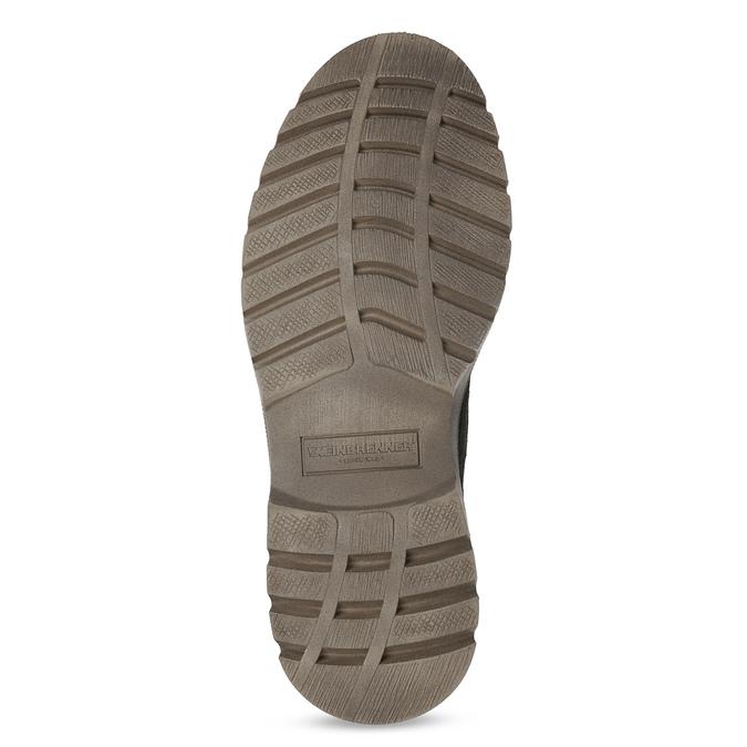 Men's leather winter boots weinbrenner, black , 896-6107 - 18
