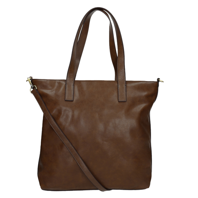 Ladies' handbag with asymmetric zip, brown , 961-3847 - 16