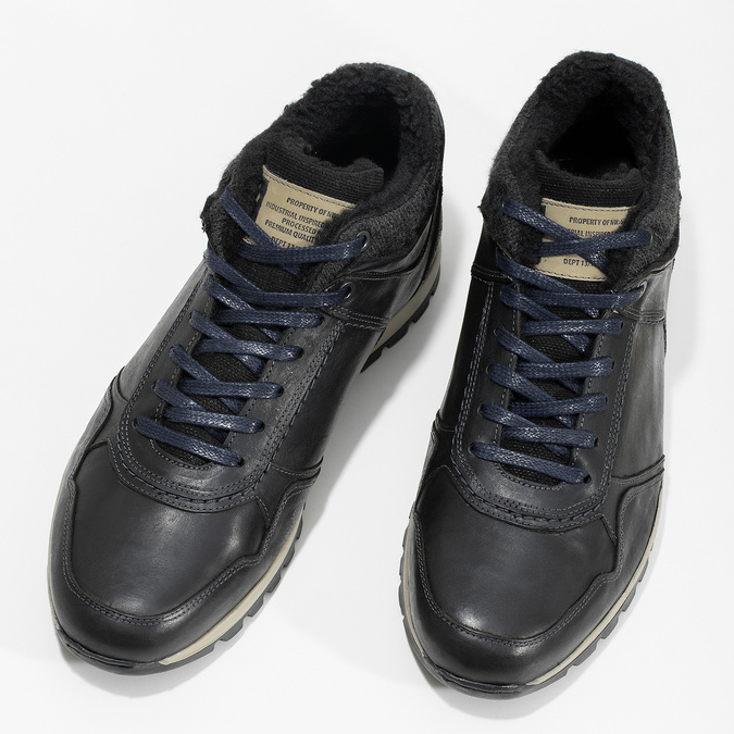 Men's Winter Sneakers bata, black , 846-6646 - 16