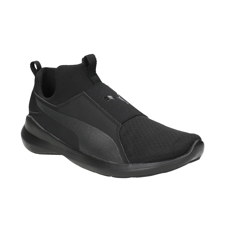 851b0e2c1857 Puma Black Ladies  Laceless Sneakers - Slip - on